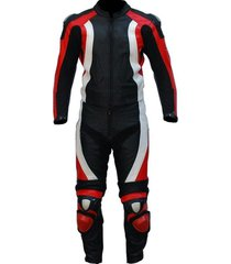 new mens black red white color motorcycle leather suit leather jacket and pants