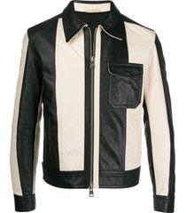 ami bi-colour panelled jacket - black