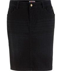 gonna di jeans elasticizzata (nero) - john baner jeanswear
