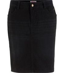 gonna in jeans elasticizzata (nero) - john baner jeanswear