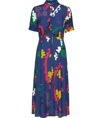 vest flandes jurk knielengte blauw desigual