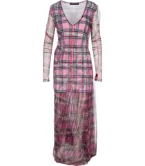 y/project tulle plaid dress