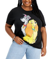 freeze 24-7 trendy plus size lady and the tramp graphic t-shirt
