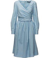 eastside cot ls vnk flrd dress kort klänning blå french connection