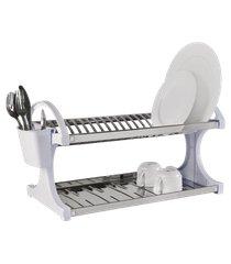 escorredor 20 pratos - suprema 60,5 x 27,5 x 29 cm branco brinox branco brinox