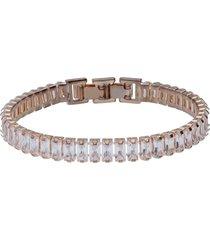 bracciale strass in metallo rosato per donna