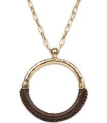 patricia nash carmelina leather necklace