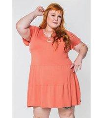 vestido kauê plus size camadas feminino - feminino