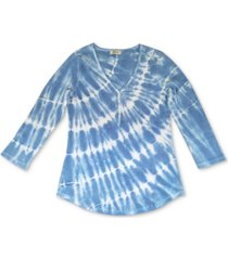 style & co petite tie-dyed top, created for macy's