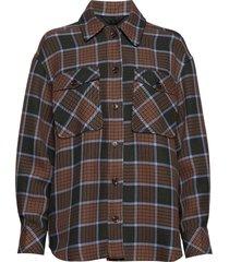 kora overshirt 11478 overhemd met lange mouwen beige samsøe samsøe