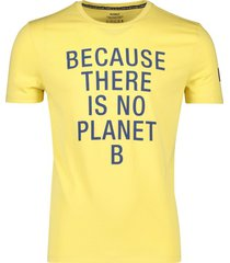 geel t-shirt ecoalf 'natal because classic'