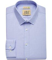 joe joseph abboud repreve® sky blue & gray dot slim fit dress shirt
