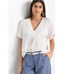 satijnen blouse met gerecycled polyester