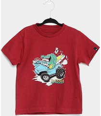 camiseta infantil quiksilver básica crocs and surf masculina