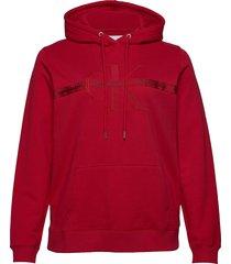 plus monogram hoodie hoodie röd calvin klein jeans