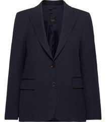 3596 - ginette pointy blazers business blazers blauw sand