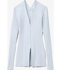 proenza schouler white label rib knit zip cardigan 452 pale blue l