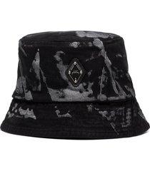 a-cold-wall* diamond abstract-print bucket hat - black