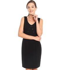 vestido ash jumper punto roma negro - calce regular