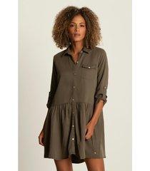 vestido corto para mujer inspiración militar