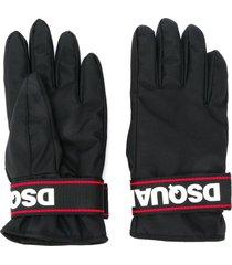 dsquared2 padded snow gloves - black