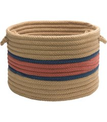 garden banded round braided storage basket