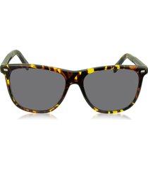 ermenegildo zegna designer sunglasses, ez0009 54a yellow and brown acetate men's sunglasses