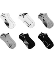 polo women's stripes on sole low cut socks, 6-pairs