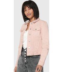 chaqueta only rosa - calce ajustado