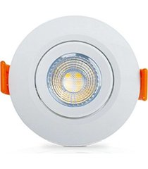 mini spot redondo led 3w 3000k branco 05611 ourolux