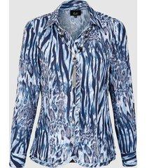 blouse paola marine::grijs