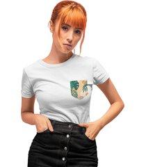 camiseta basica my t-shirt bolso estampado costela de adão branco