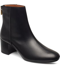 mei black vacchetta shoes boots ankle boots ankle boots with heel svart atp atelier