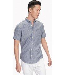 tommy hilfiger men's custom fit essential solid shirt peacoat - xxl