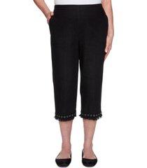 alfred dunner women's missy checkmate capri pants