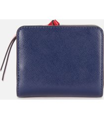marc jacobs women's mini compact wallet - coconut multi