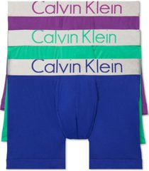 calvin klein men's 3-pk. steel waistband boxer briefs