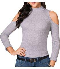 blusa leyre gris para mujer croydon