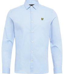 ls slim fit poplin shirt skjorta casual blå lyle & scott