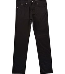 boss slim-fit overdyed satin touch jeans | black | 50440492-001