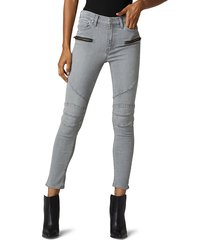 hudson women's barbara high-rise skinny ankle jeans - cloudy sky - size 23 (00)