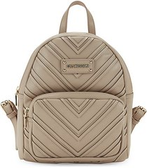 chevron-textured backpack