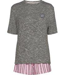 dkny 100% dkny top, boxer & eyemask box pyjama roze dkny homewear