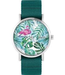 zegarek - flaming, tropikalny - morski, nato
