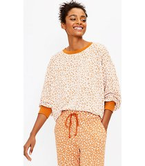 loft lou & grey flower cozy cotton terry sweatshirt
