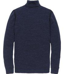 roll neck cotton uneven heather pl dress blues