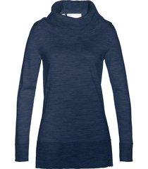 pullover in lana merino con collo a ciambella (blu) - bpc selection premium