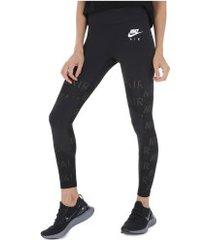 calça legging nike air 7/8 tight - feminina - preto/branco