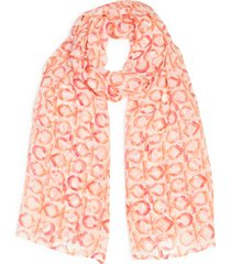 calvin klein ck logo chiffon scarf