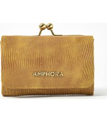 billetera amarilla claro amphora pelli